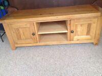 Solid oak wood tv cabinet £85