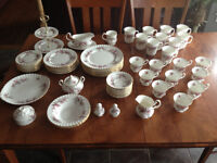 72 Piece Lavender Rose China Pattern by Royal Albert