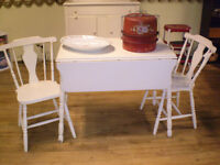 Drop Leaf Table and Two Chairs UP TO 60% OFF SALE