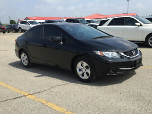 2014 Honda Civic LX Sedan,75,000 KM Automatic, Safety, Warranty
