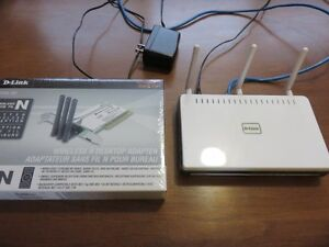 Wireless network card and router
