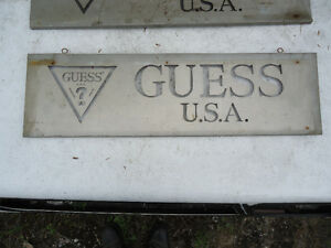 Vintage Guess Jeans USA Metal Signs from jean store Peterborough Peterborough Area image 5