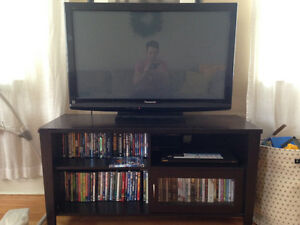 "40"" panisonic plasma tv with entertainment unit"