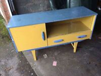 PANTED RETRO SIDEBOARD SHABBY CHIC PROJECT ** FREE DELIVERY AVAILABLE THURSDAY NIGHT **