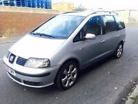 2006 Seat Alhambra 1.9 Diesel Red Black Seats 7 Seater Swap P.x welcome