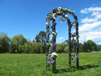 Chandelier Wedding Arch Rental Service
