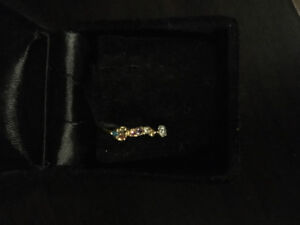 18K Solid Gold 2 Nose Pin Lot For One Price!!!