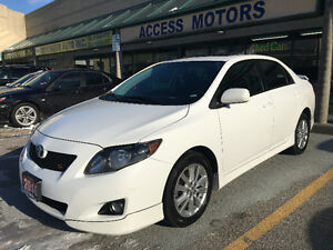 2010 Toyota Corolla S, Clean Carproof, White on Black