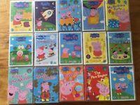 15 Peppa Pig DVD's