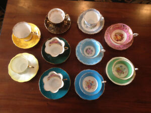 $Reduced - 10 Vintage Quality China Teacups & Saucers – Box 101