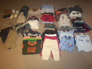 Boys Clothes: 3-6 month old lot (86 items)