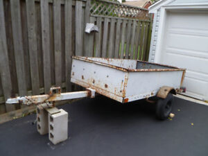 Utility Trailer.  4 ft by 6 1/2 ft.