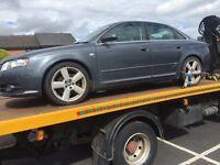 Audi A4 3.0 tdi Quattro S line spares or repair 2005
