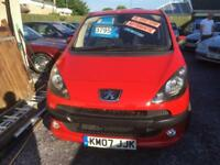Peugeot 1007 1.6 16v AUTO 2005MY Sport Metallic Red Low Mileage 56,000 Only