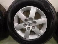 MITSUBISHI SHOGUN ALLOYS AND BRIDGESTONE TYRES