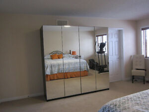 IKEA PAX 3 section mirrored wardrobe