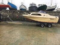 Shetland family 4 project boat with outboard no trailer