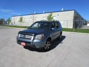 2006 Honda Pilot, 4WD, 8pass, Leather, DVD,3/Y warranty availabl