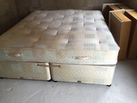 Superking bed with mattress or can be used as 2x single beds 4 drawers each base has 2 drawers