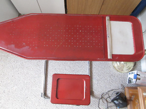 Metal Ironing Board with Seat Attached
