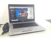 Fast TOSHIBA dual-core laptop - WIN 10 Pro, 4GB, MS OFFICE