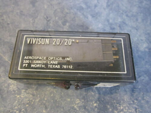 VIVISUN 20/20 AEROSPACE OPTIC M22885/90 MFR 32245-99-913 PUSH SWITCH MILITARY