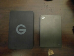 External HDD's 1TB and 2TB