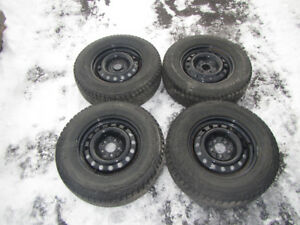 16 Inch Epoxy Coated Steel Rims With Winter Tires 225/70R16 103R