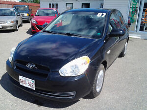 2007 Hyundai Accent GS 2 Dr Hatchback Coupe