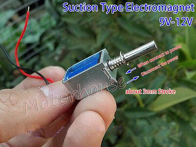 Dc 6v-12v Reset 3mm Push Pull Type Open Frame Solenoid Electromagnet Dc Solenoid