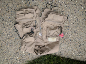 Inflatable fly fishing vest.