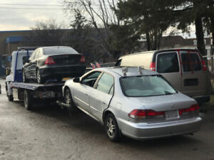 SALVAGE REMOVAL, SMASHED CAR FOR SCRAP, EVEN RUNNING WE BUY CASH