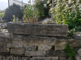 Pair of trough planters
