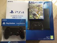 Ps4 1TB new fifa 17 extra controller warranty delivery