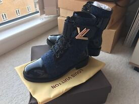 Louis Vuitton Wonderland Ranger blue boots!
