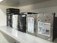 02 HARD DRIVE DISQUE DUR HDD SATA /IDE/SSD LAPTOP PC MAC