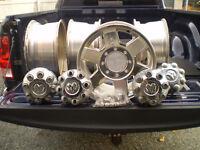 4 aluminum wheels