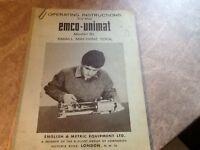 Emco-Unimat operating instructions