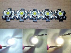 5x 3W High Power LED ca.1000lm 3,4V 700ma auf Star-Platine neutralweiss 4500k