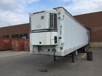 Tridem reefer trailer