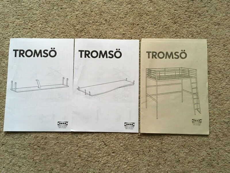 Ikea Tronso Kids Single Bunk Bed Kids Bunk Bed With Desk And Shelf