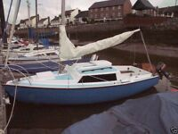 Hurley Alacrity 19 Trailer Sailer (72) - Serviceable Condition. Requires Light Restoration.