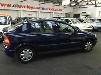 2003 VAUXHALL ASTRA 1.6i LS 5DR From GBP1250+Retail package.