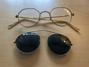 Original Oliver Peoples OP-43 with Clip Vintage Sunglasses Rare