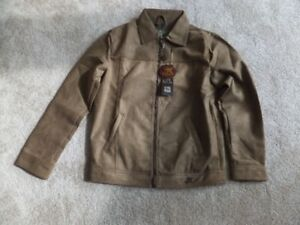 FOR SALE New Leather Jacket – G A Milano 1 Brown Suede Medium si