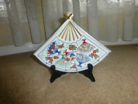 Mikado Japanese Fan Shaped plate or tray.