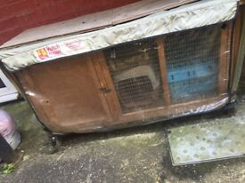 rabbit / small animal hutch and cover