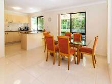 Dining Table 6 Chairs - Upholstered Timber Chairs plus Glass Top Arundel Gold Coast City Preview