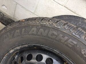 Hercules Avalanche Winter tires with rims- only used 1 season Kitchener / Waterloo Kitchener Area image 2