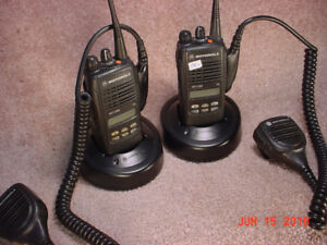 For Sale: Pair of Motorola HT1250 UHF Portables with Spkr/Mics